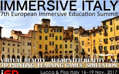 Med Store e Didattiva ad IMMERSIVE ITALY – LUCCA 16-19 Novembre 2017
