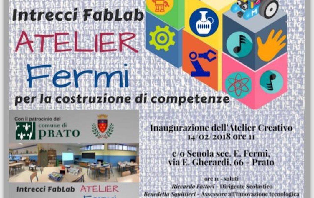 Mercoledì 14 Febbraio 2018 h. 11 – Inaugurazione Atelier Creativo IC Prato Nord